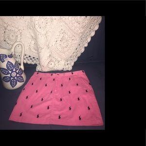 RL Sport Pink mini skirt